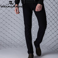 WEINIANUO New Men Jeans 2017 High Qulity Autumn Casual Streetwear Men Jeans Denim Overall Male Trouser