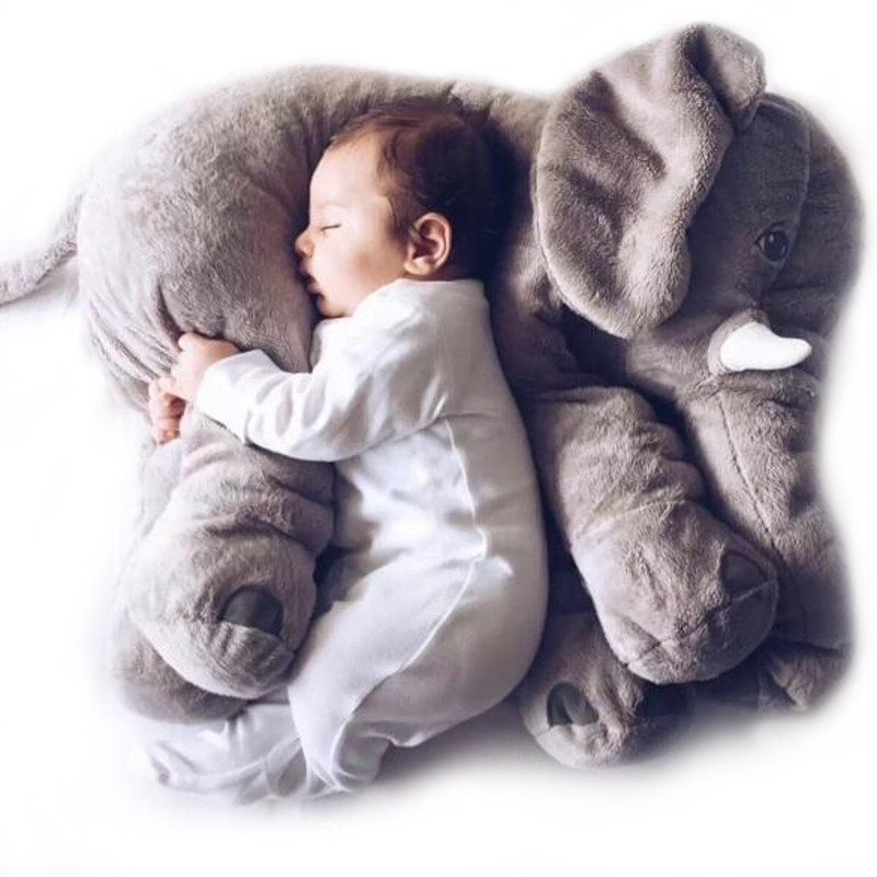 Cartoon 65cm Baby Elephant Pillow Newborn Baby Sleep Stuffed Elephants Kid Filled Pillow Doll Toys For Childern Christmas Gift