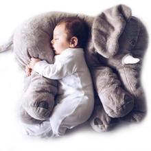 Cartoon 65cm baby elephant pillow Newborn Baby sleep stuffed elephants kid filled pillow doll Toys For Childern Christmas Gift