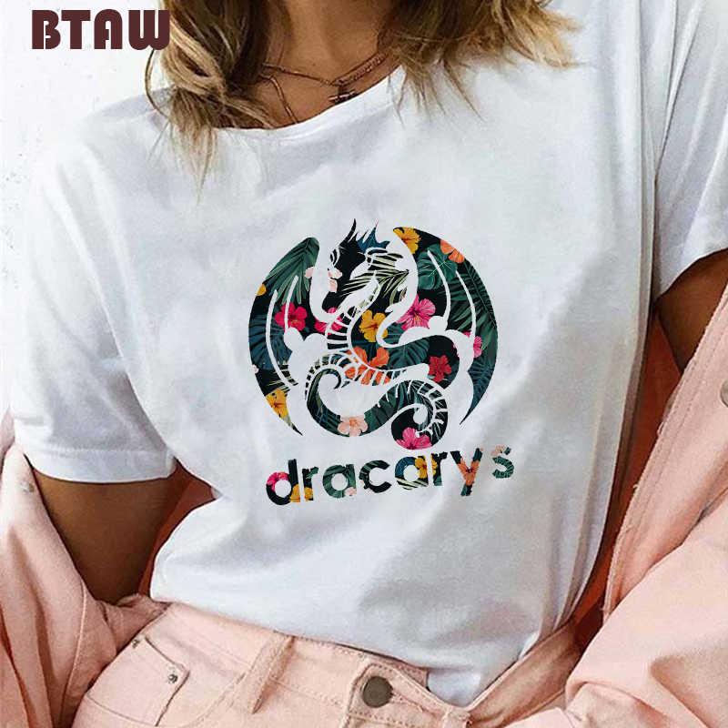 5 mẹ của Mèo/Chó T Áo Sơ Mi đối với Phụ Nữ In Hoa Dracarys Rồng T-Shirt Harajuku Đồ Họa Tees Vogue Thẩm Mỹ gothic Tops