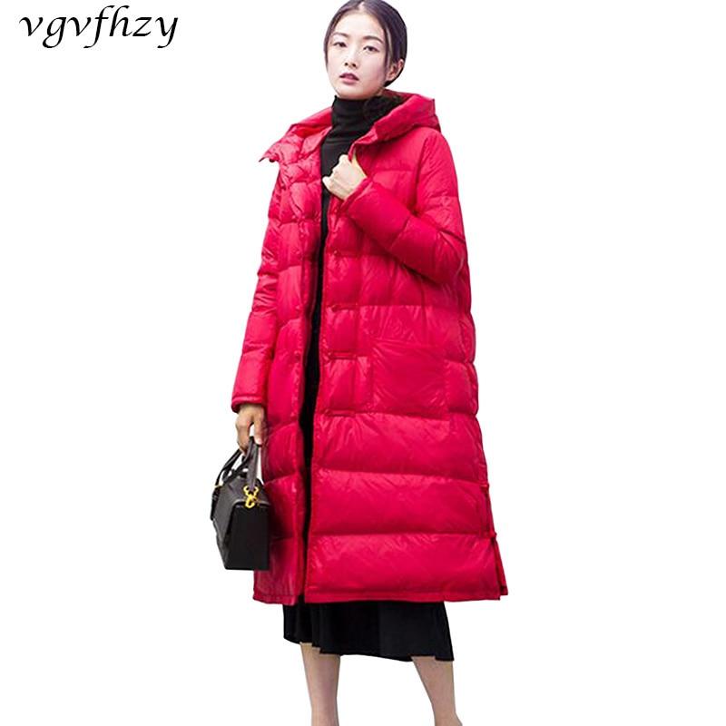 2017 New Winter women   Down     Coat   White Duck   Down   Long Length Overcoat Female Wear High quality Woman   Down   Parka Winter   Coat   LY591