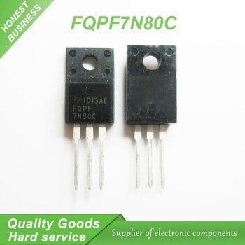 10 unids/lote FQPF7N80C FQPF7N80 7N80C TO-220F LCD FET nuevo original