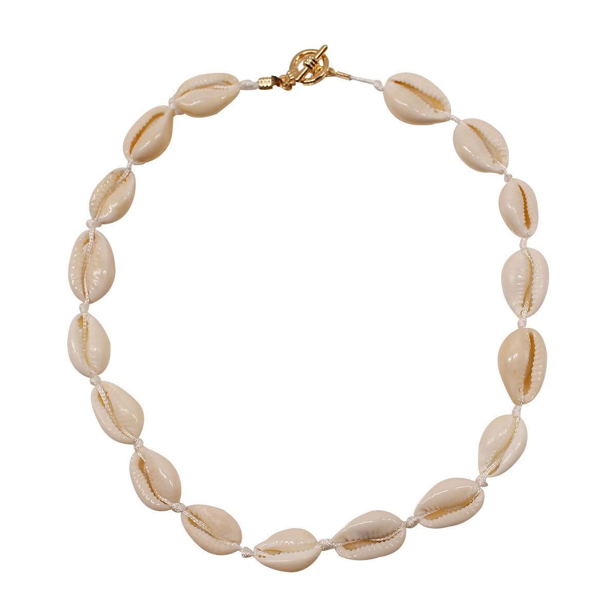 Bohemian Jewelry Shell Choker Necklace Women Fashion Personality Handmade Rope Chain XL404