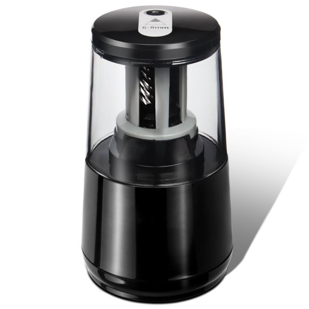 Electric Pencil Sharpener, Heavy-duty Helical Blade for 1000 Uses,AC or 4AA Battery Operated,Fits for No.2 and WJ-XXWJ352-