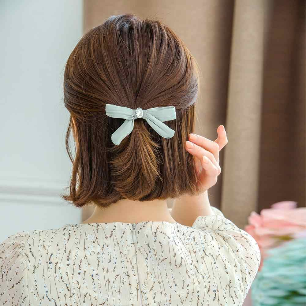 CHIMERA Cute Hair Bow Clip for Women Girls Fashion Satin Hairpin  Accessories Handmade Headwear Bowknot Alligator Clips