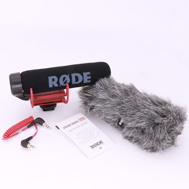 Authentic Rode VM GO VideoMic GO On-Camera Shotgun Microphone Super Cardio for Canon Nikon Sony DSLR DV Camcorder