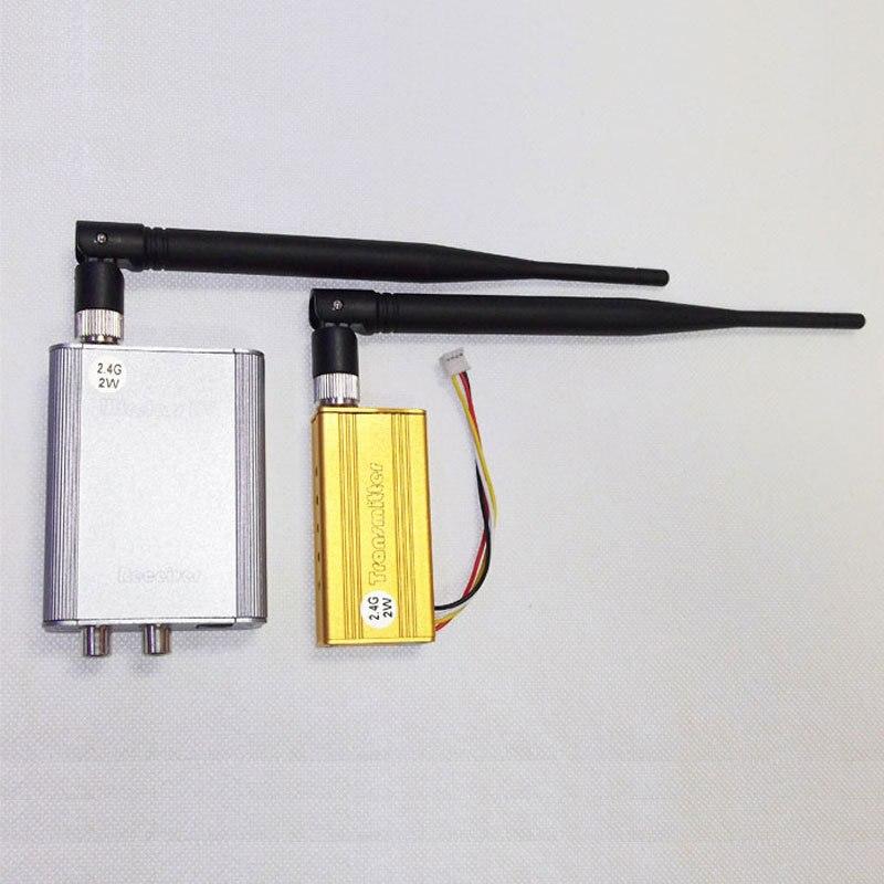 ФОТО 2W / 2000mw 2.4G 4-CH 4 channel Wireless Video Audio AV Transmitter Receiver PAL / NTSC for CCTV camera kit
