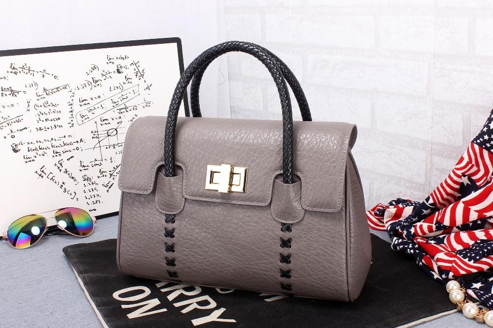 ФОТО Women Handbag Genuine Cowhide Leather  Personal Top Quality 6 Colors Designer Vintage Bag Bolsas Femininas