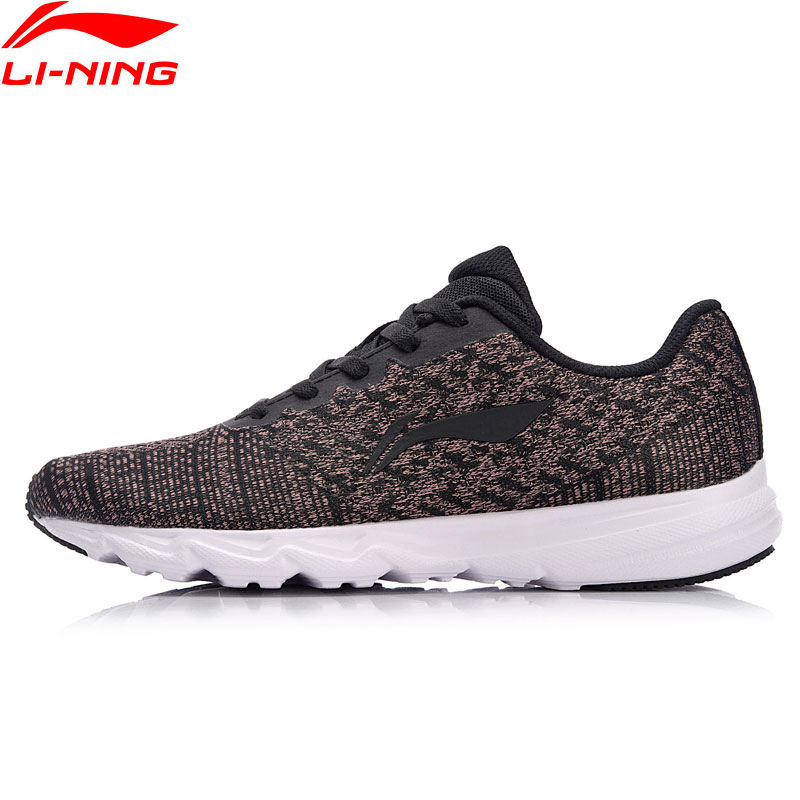 Li Ning Women EZ RUN Running Shoes Light Weight Breathable Sneakers LiNing Wearable Anti Slippery Sport