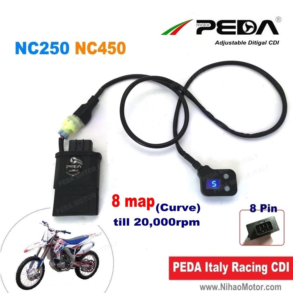Moto réglable CDI carte intelligente à distance NC250 NC450 Zongshen DC numérique 8 courbe illimitée course bobine d'allumage RX3 motoland