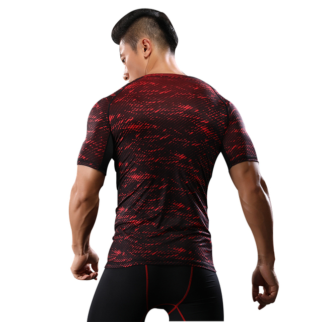 NANSHA Brand-Clothing Gyms Compression T-Shirt Workout Crossfit T Shirt Fitness Slim Tights Casual Shirts Quick Dry Breathable