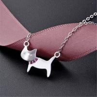 luxury brand red CZ stone dubai silver 925 jewelry cate necklace women