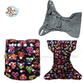 Babyshow Free Shipping Reusable Bamboo Charcoal Color Printed Cloth Diaper Double Leaking Guard Hold Leds Non Leaky Diaper Cover