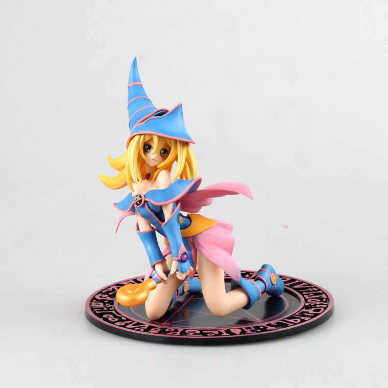 18 cm-22 cm japonês clássico anime yu-gi-oh! Duelo monstro yugi muto/mágico escuro menina pvc figura de ação collectible modelo brinquedo