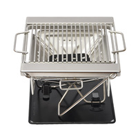 Stainless Steel Folding Barbecue Charcoal Grills Outdoor Camping Portable BBQ Stove Cooking Rack Travel Garden Barbecue Tools