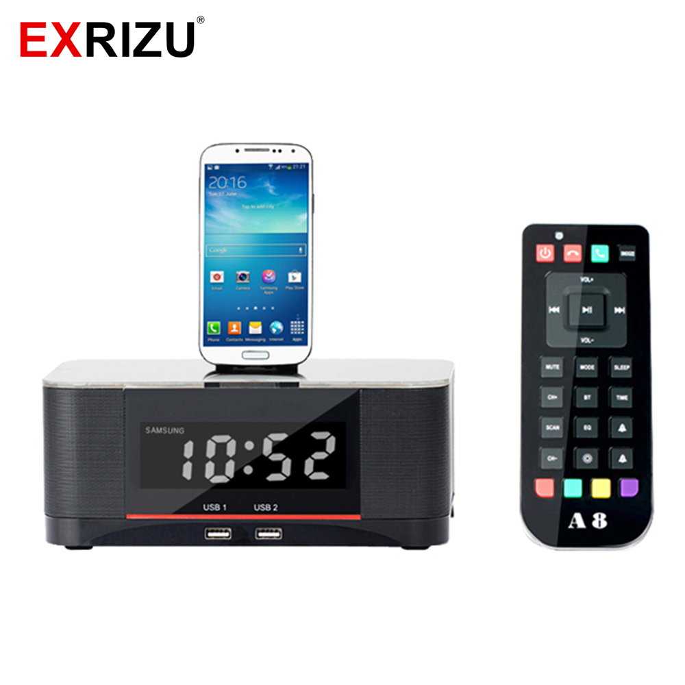 Portable Music Bluetooth Speaker A8 FM Radio NFC Light Alarm Charger Dock Station for iPhone 8 7 Plus 6S 6 5S SE Samsung Android lcd digital fm radio alarm clock music touch station bluetooth stereo speaker for iphone 5 5s iphone6s 7