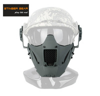 Stinger Gear Helmet Rail Jay Fast Mask Airsoft Mask Paintball Face Mask Grey+Free shipping(SKU12050876)