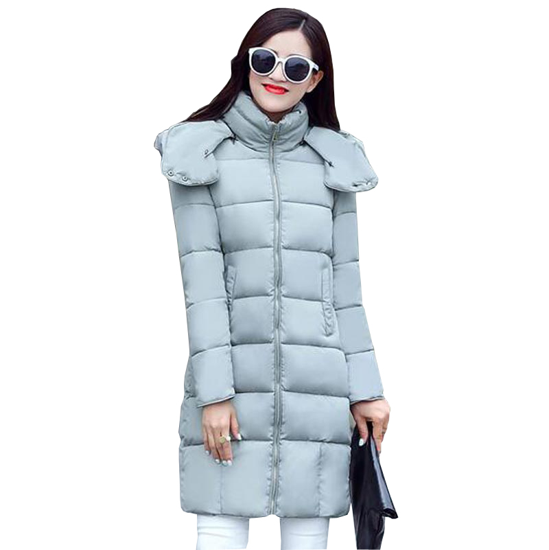 ФОТО women clothes 2016 winter jacket women coat thicken warm parkas long slim cotton coat jacket female hooded outerwear kp0836