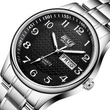Zegarek męski luksusowe zegarki ze stali moda zegarek kwarcowy wodoodporny data mężczyzna zegar Relogio Masculino Relojes Para Hombre tanie tanio BOSCK 23cm Moda casual QUARTZ 3Bar Składane zapięcie z bezpieczeństwem STAINLESS STEEL 10mm Hardlex Kwarcowe Zegarki Na Rękę