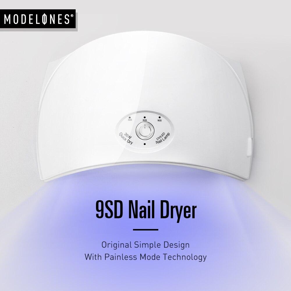 Modelones 36 W UV lámpara LED secador de uñas para uñas de arco en forma de 9SD lámpara de uñas de Gel UV polaco herramientas máquina de arte del clavo secador de Kits