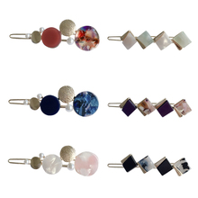 Fashion Women Acetate Imitation Pearl Hair Clips Geometric Accessories Irregular Unique Design Hairpins