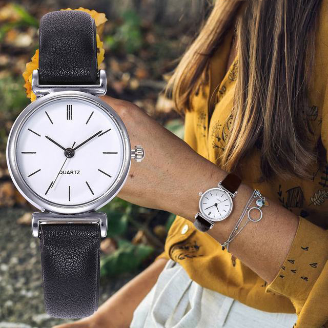 FUNIQUE 2019 Simple Women Watches Luxury Ladies Watch Bracelet Couple Leather St