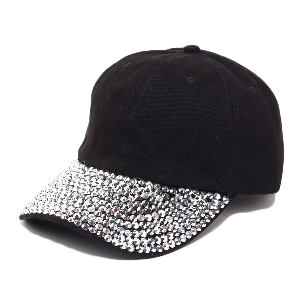 Cool Women Men Bling Studded Rhinestone Adjustable Baseball Cap Visor Sun  Hat b56999ac432