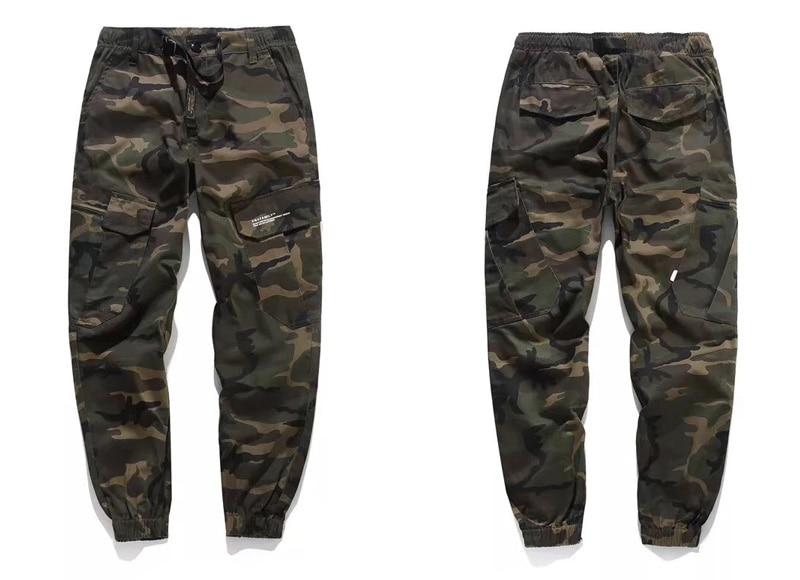 b42a539fa3 Pantalones clásicos del Ejército de la manera pantalones vaqueros del  algodón de la calle de los hombres del Jogger pantalones de diseñador de la  marca ...