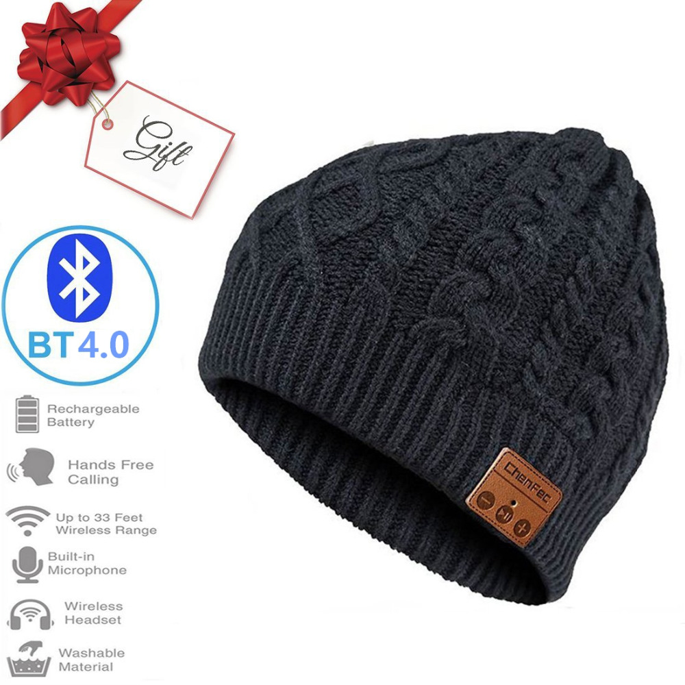 Bluetooth Beanie Music Hat Cap with Wireless Bluetooth Headphone Headset Earphone Music Hands-free Phone Call for Winter Sports hot winter unisex plicate baggy beanie knit crochet ski hat oversized slouch cap