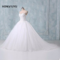 Ball Gown White Ivory Wedding Dresses 2015 New Actual Image Appliques Wedding Dress Bridal Gown All