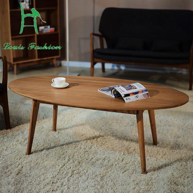 Legno massello contratto Nordico tavolo ovale Giapponese moderno in ...