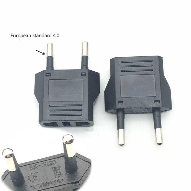 Usa do ue wtyczka Mini Adapter amerykańskiego na Euro europa europejskiej sławny zasilacz konwerter AC elektryczne gniazdo wyjściowe