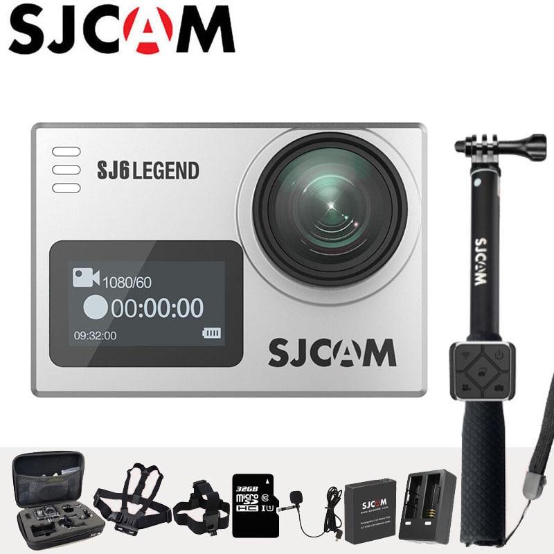 Action Camera SJCAM SJ6 Legend 4K Sports DV Dual Screen Wifi 30m Waterproof 1080P Ultra HD Notavek 96660 Remote Original Cam sjcam sj6 legend wifi action camera notavek 96660 ultra hd 4k 24fps 1080p waterproof 2 0 touch screen remote sports dv kamera
