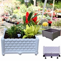 Planting Container Grow Bags Breathable Durable Plastic Planter Pot For Plants Nursery Pot Fabric Raised Garden Bed With Wheels