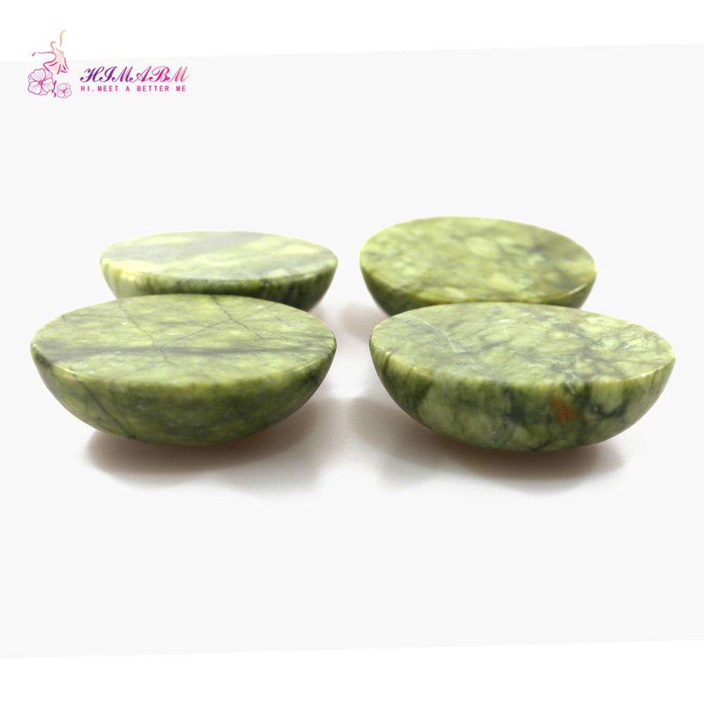 HIMABM Natural Jade Massage Convex Oval Shape Hot Cool stone Massage Therapy Lava Rock Basalt in Massage Relaxation from Beauty Health