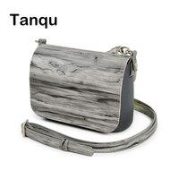 TANQU New Set Wood Grain Opocket Style Small EVA Pocket Plus Leather Flap Long Adjustable Belt with Clip Closure Attachment OBag