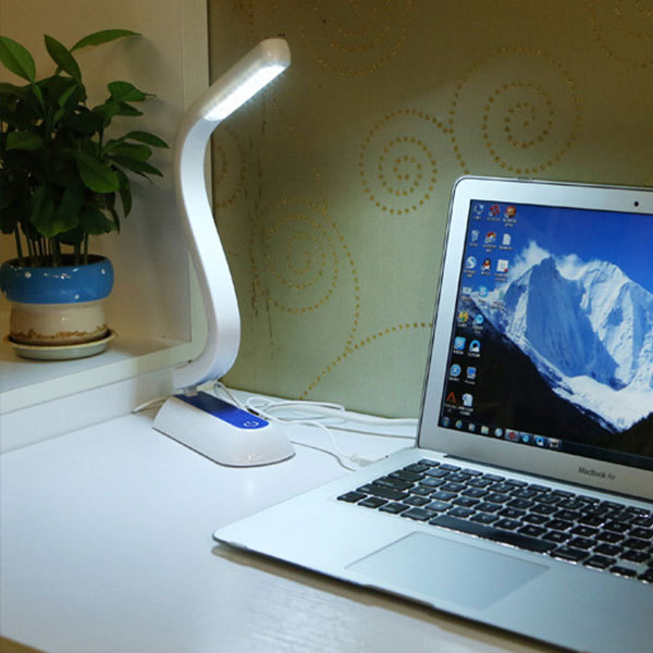 Table LED Lamp Touch Switch S Shape USB Desk Light Reading Eye Protect