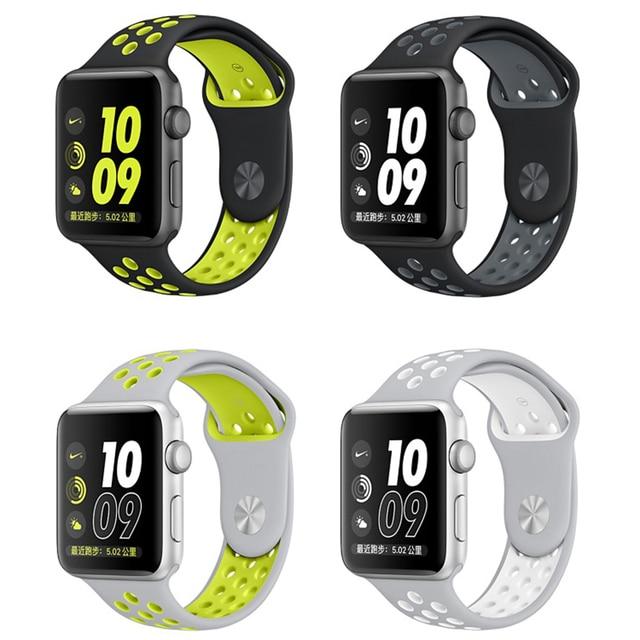 a9d7a0c2ea7 Para a apple watch strap nike + series 2 new silicone sports banda Cinta  Banda 38