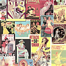 3d custom photo mural  American retro nostalgic English alphabet wallpaper loft beauty poster bar B&B personality KTV