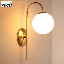 New arrival unique and novelty led wall lamps glass ball lights for home E27 AC85-265V  Indoor Lighting Wall Sconce