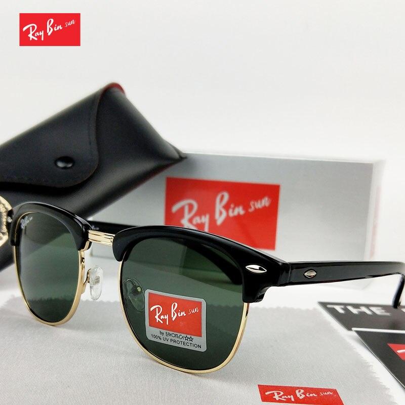 1842c2883558a Ray Bin Sol Raios Marca do Desenhador Das Mulheres Dos Homens Óculos De Sol  polarizados óculos