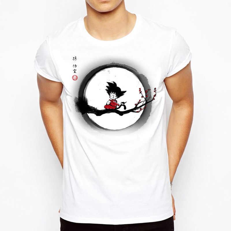 Футболка с принтом Гоку dragon ball z super Saiyan Son рубашка Гоку японского аниме «драгонболл» z футболка dragon ball fuuny футболка Вегета