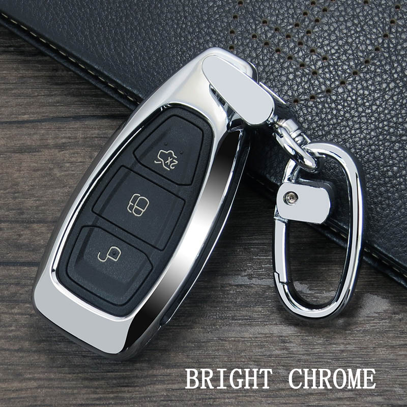 2019 New Fashion Zinc Alloy Car Styling Key Remote Key  Case Cover Key ring is For Ford Focus Fiesta Kuga C-Max Galaxy
