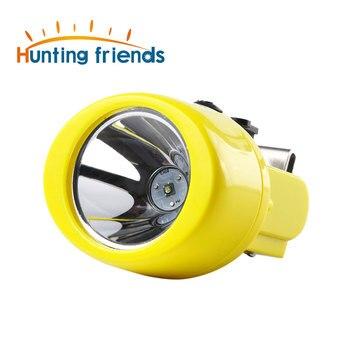 12 unids/lote Faro de minería KL3.0LM impermeable LED lámpara de tapa de minería explosión Rroof Luz de minería linterna recargable faro