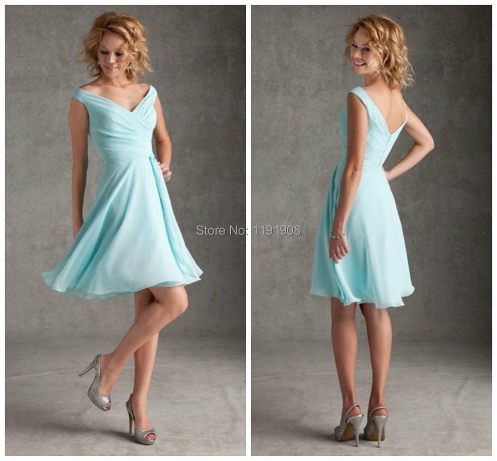 2016 aqua short bridesmaid dresses chiffon elegant pleats beach 2016 aqua short bridesmaid dresses chiffon elegant pleats beach casual summer bridal party dresses custom made cheap on sale in bridesmaid dresses from ombrellifo Images