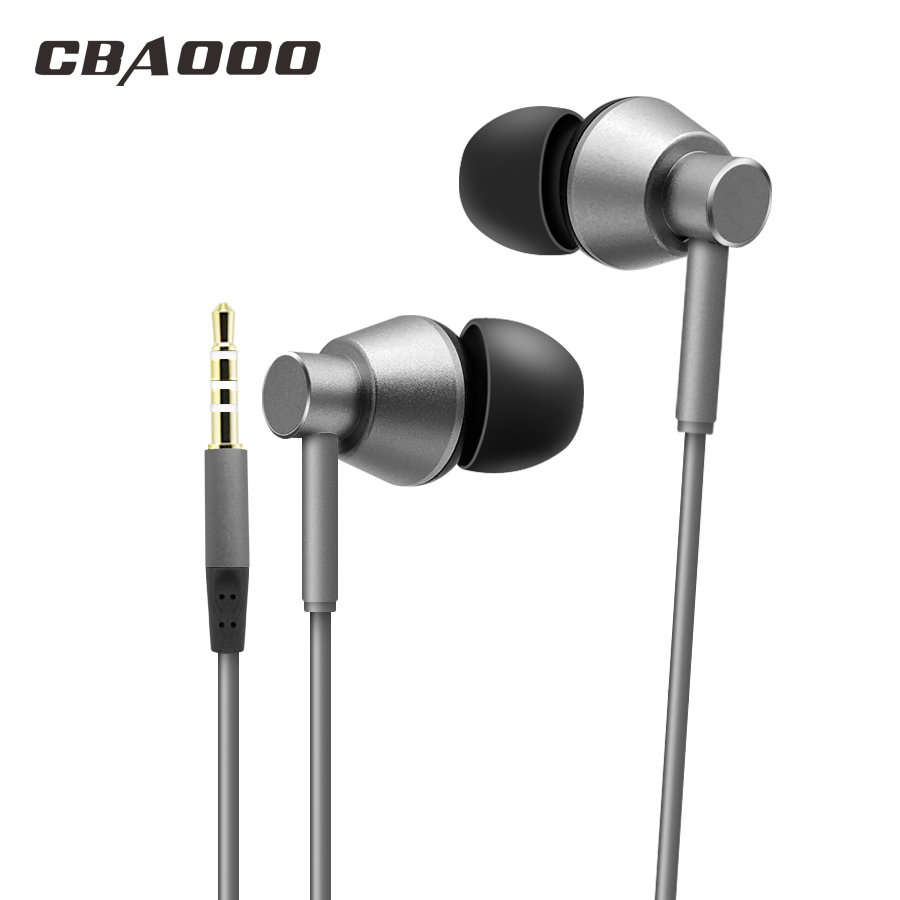 CBAOOO G5 In-Ear Earphone Metal Heavy Bass Sound Quality Music Wired Earphone Headset for phone with Mic fone de ouvido high quality nylon braided wire music in ear colorful metal earphone and clear bass earpiece sport earbuds with mic headset
