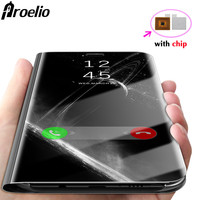 Proelio For Samsung Galaxy S8 S8 Plus S6 S7 Edge Case Luxury Flip Stand With Smart