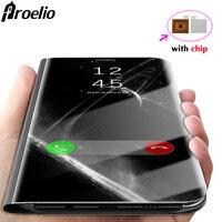 Samsung Galaxy Için Proelio S8 S8 Artı S6 S7 Kenar Durumda Lüks Flip Standı Akıllı Çip Ile Samsung Not 8 Için Ayna Telefon Kılıfı
