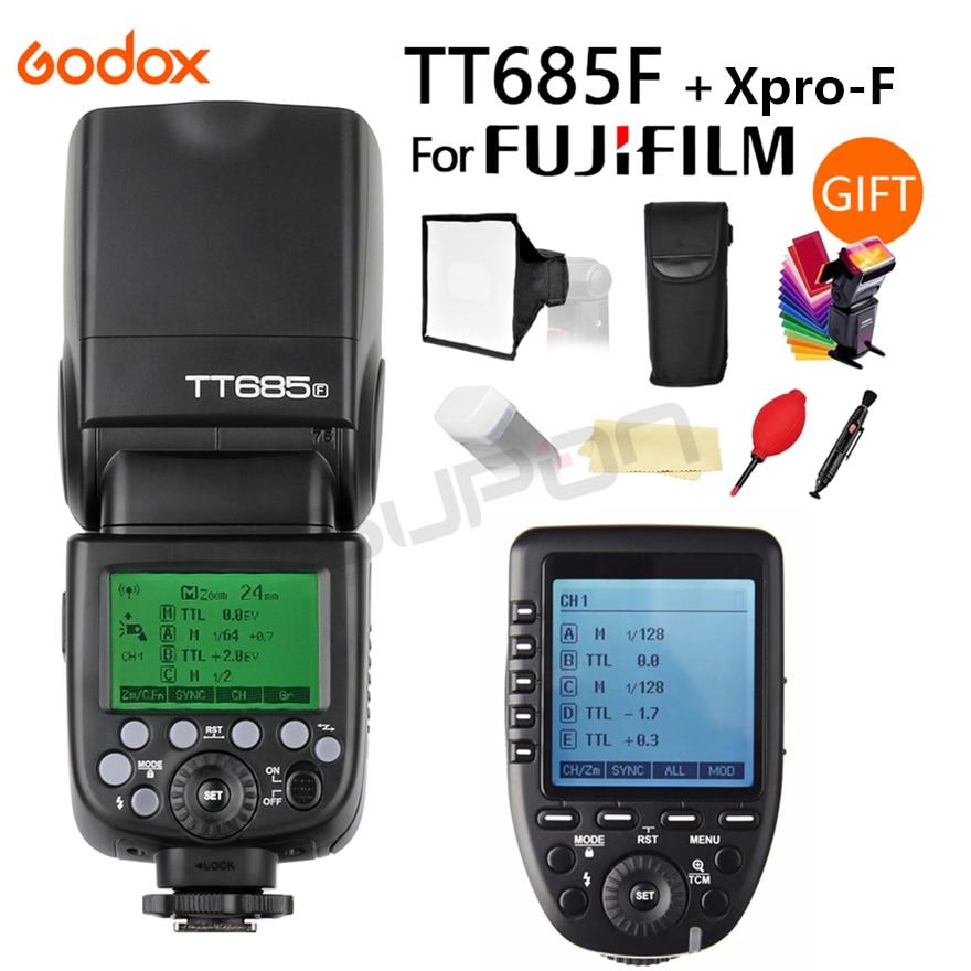 Godox TT685F 2.4G HSS TTL GN60 Flash Speedlite + Xpro-F Trigger Transmitter Kit for Fujifilm Fuji X-Pro2 X-T20 X-T1 X-T2 цена