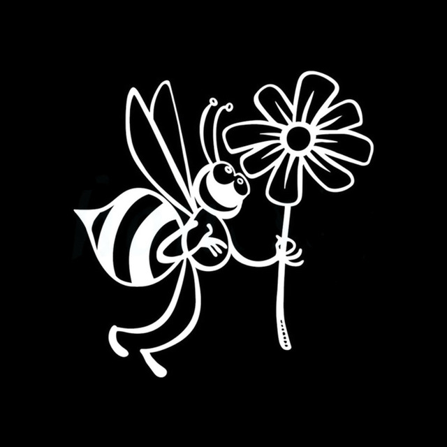Rylybons 11 511 7cmcar stickers cute bee and beautiful flowers wall home glass window door